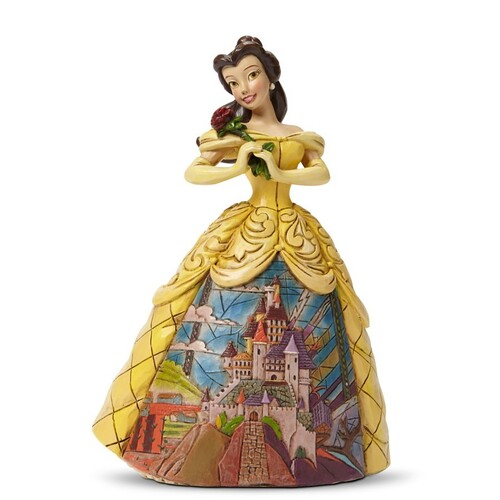 Jim Shore Disney Traditions - Belle  Enchanted Castle Dress Figurine