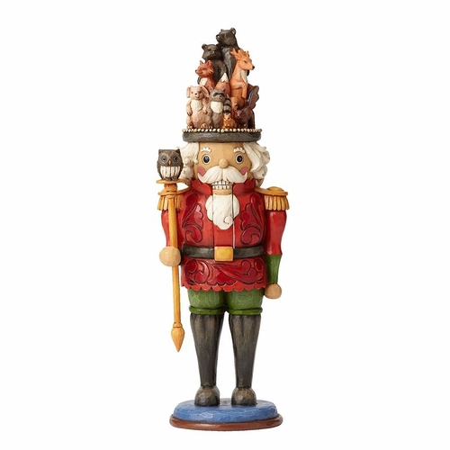 Heartwood Creek Classic - Toy Soldier with Woodland Animals Scene Nutcracker - Watchman of the Woods