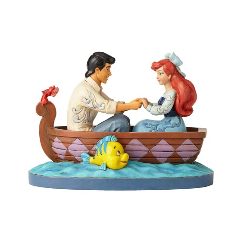 Jim Shore Disney Traditions - Ariel and Prince Eric Waiting For A Kiss Figurine
