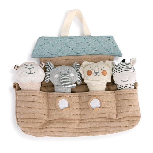Demdaco Baby - Noah's Ark With Squeakers Plush Toy Set