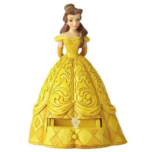 Jim Shore Disney Traditions - Belle with Chip Charm Figurine