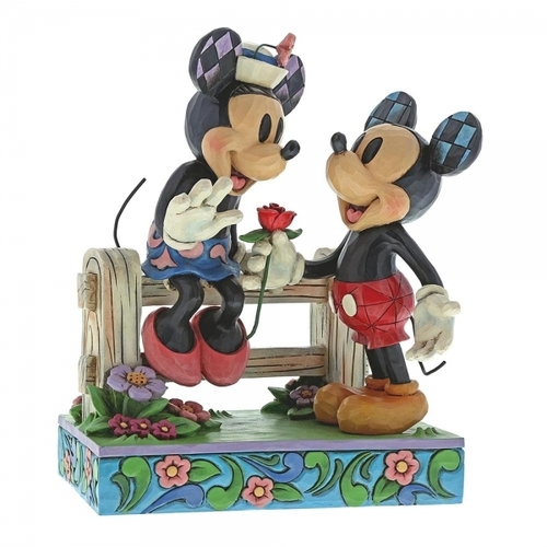 Jim Shore Disney Traditions - Mickey Mouse & Minnie Mouse Blossoming Romance Figurine