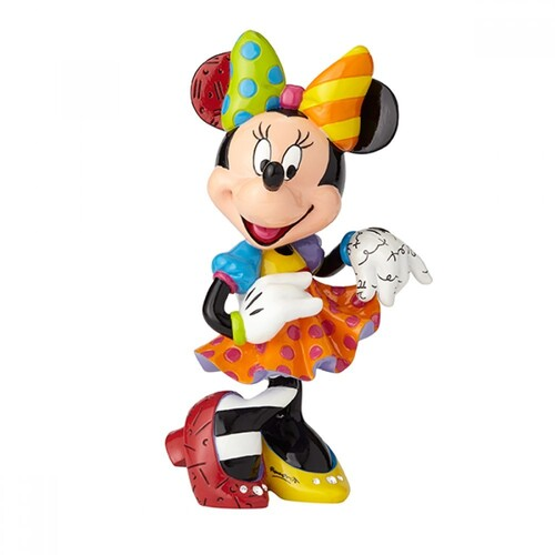 Disney Britto Minnie Mouse 90th Anniversary Figurine With Bling - Large