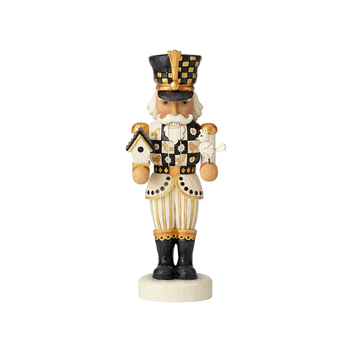 Heartwood Creek Black and Gold Collection - Nutcracker with Birdhouse