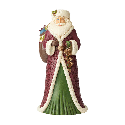 Heartwood Creek Victorian - Santa With Toy Bag Statue