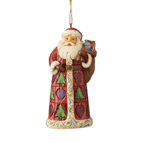 Heartwood Creek Classic - Santa With Toy Bag Hanging Ornament