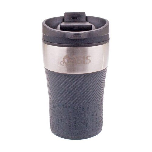 Oasis Cafe Insulated Leakproof Travel Coffee Cup - 280ml Charcoal Grey