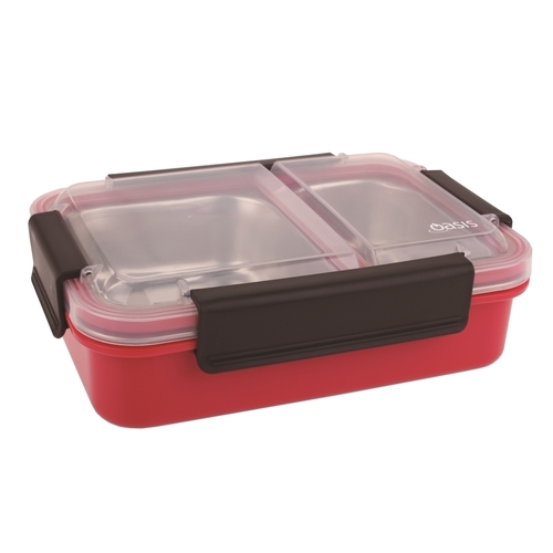 Oasis Stainless Steel 2 Compartment Lunch Box - Watermelon
