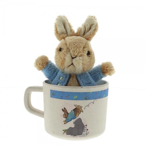 Beatrix Potter Peter Rabbit Organic Mug & Soft Toy Gift Set