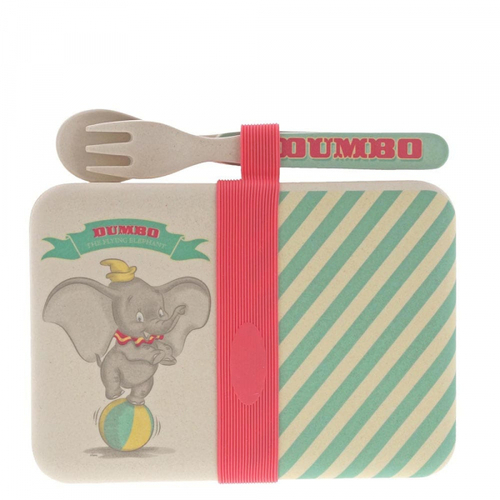 Disney Enchanting Organic Snack Box With Cutlery - Dumbo