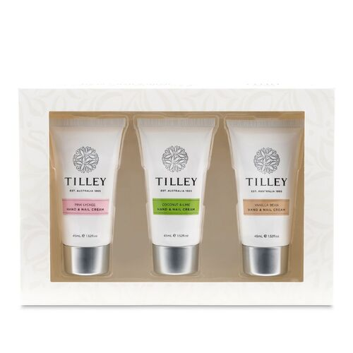Tilley Hand & Nail Cream Trio Gift Set - Gourmet