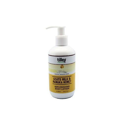 Tilley Natural Goats Milk & Manuka Honey Soothing Replenishing Body Lotion 250ml
