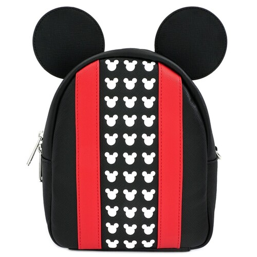 Loungefly Disney Mickey Mouse - Red Stripe Convertible Mini Backpack