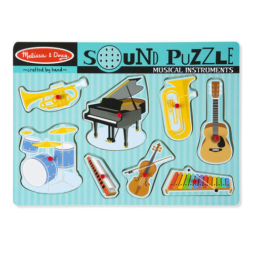 Melissa & Doug Sound Puzzle - Musical Instruments 8 Pieces