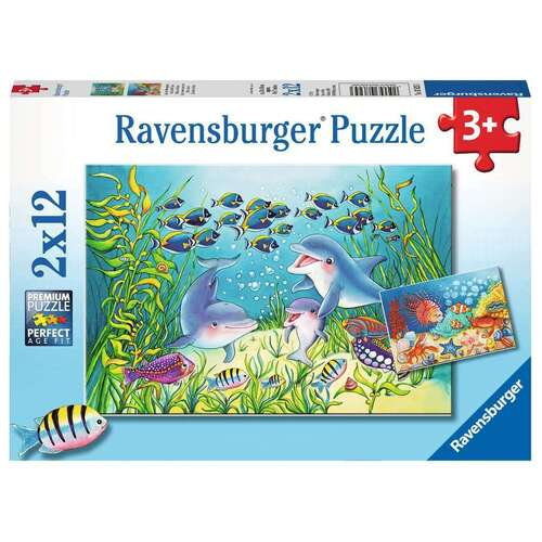 Ravensburger Puzzle 2 x 12pc - On the Seabed