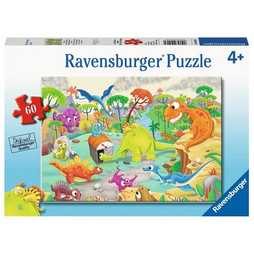 Ravensburger Puzzle 60pc - Time Travelling Dinos