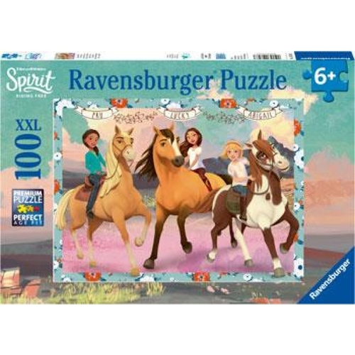 Ravensburger Puzzle 100pc - Spirit Lucky And Her Friends