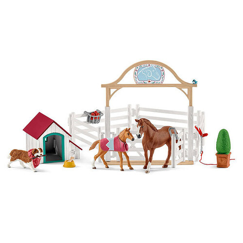 Schleich Horse Club -  Hannah's Guest Horses With Ruby The Dog