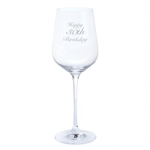 Dartington Crystal Happy 30th Birthday Wine Glass