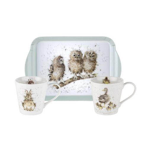 Royal Worcester Wrendale Mug and Tray Set